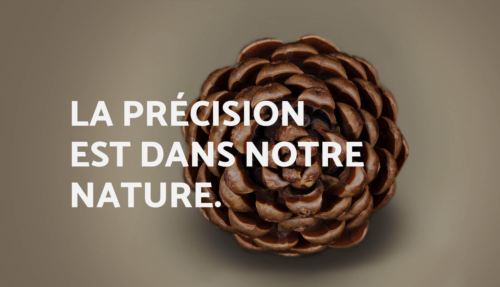 La précision est dans notre nature.